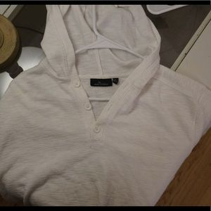 Marc Anthony- white hooded shirt XL